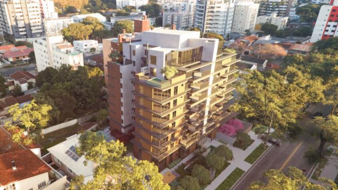 : Edifício Guará, localizado no bairro Ahú, tem como destaques a conexão com arte, design e natureza